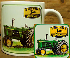 300ml COFFEE MUG WITH MATCHING COASTER - JOHN DEERE TRACTORS