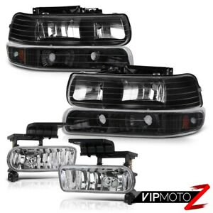 2000-2006 Chevy Suburban 1500 2500 Tahoe Turn Signal Bumper Headlights +Fog Lamp