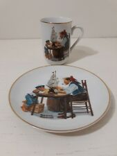 Norman Rockwell 1982/84 Collector Mug and Plate For A Good Boy