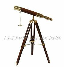 """18"""" Antique Vintage Telescope With Tripod Stand Watching Brass Nautical Spyglass"""