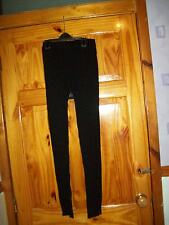 ***NEW*** BLACK CABLE  LEGGINGS SIZE  M 10-14 APPROX ***