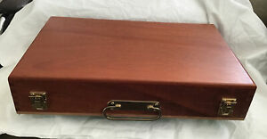 Beautiful Original Solid Wood 102 space Negafile Slide Carrier Box, Many Uses