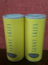 Avon Sunny Skies Perfumed Talc Powder 75g x2 brand new rare and discontinued