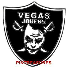 LA / Oakland / Vegas Raiders Pins Joker NFL Football DC Comic Collector Pin(@!@)