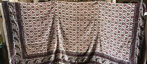 Large Indian Printed Paisley Shawl Antique