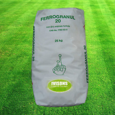 25kg Iron Sulphate Hydrate 20 Lawn Garden Conifers Ericas Moss Killer for Lawn