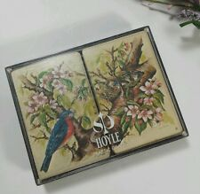 Blue Bird Playing Cards Vtg Hoyle Double Deck Robin Birder Pinochle Solitaire