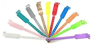 Wristbands Plain Vinyl Colours Available Wide Faced Events Security Stud Plastic