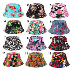 Men Women Unisex Trendy Boonie Hunting Fishing Outdoor Cap Floral Bucket Sun Hat