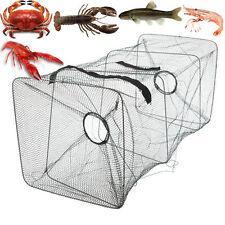 Foldable Fish Net Fishing Bait Trap Cast Dip Cage Crab Minnow Crawdad Shrimp