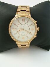 FOSSIL WOMENS VIRGINIA Q HYBRID SMARTWATCH FTW5010 ROSE GOLD STAINLESS STEEL