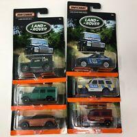 6 Car Set Land Rover * Matchbox * ZA24