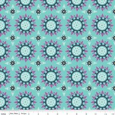 Riley Blake Lulabelle Medallion Mint fabric by the yard
