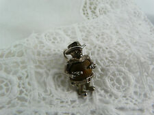 Vintage Sterling Silver Touch wood wud Nuvo Cowboy Charm