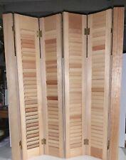 "PAIR (4 Panels) Vintage INTERIOR WOOD Louver Shutter Set 29""W x 36""H. Brand New"