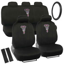Elephant Chakra Full Seat Cover Set Steering Wheel Belt Pads for Car Truck SUV