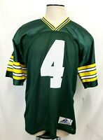 NEW Vintage Brett Favre #4 Green Bay Packers Green Jersey NFL Apex One - Size L