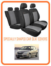 Seat covers Skoda Fabia II  Tailored seat covers full set grey2     (110)