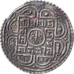 𝐍𝐄𝐏𝐀𝐋 1774 1-Mohur SILVER Coin ♕King PRATAP SINGH♕【Cat № KM# 472.1】𝐕𝐅