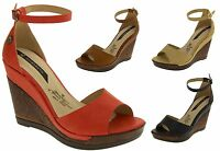 Ladies Strappy High Heel Sandals Womens Platform Wedge Shoes Size 3 4 5 6 7 8