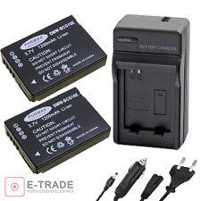 DMW-BCG10E // 2x Battery + CHARGER for Panasonic Lumix TZ7 TZ8 TZ10 DMC-TZ20
