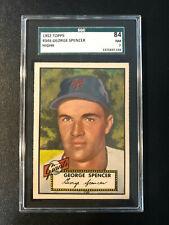 1952 Topps #346 George Spencer Giants SGC 7 High Number PSA Set Break