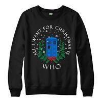 Doctor Who Christmas Jumper, Marvel Xmas Festive Adult & Kids Jumper Top