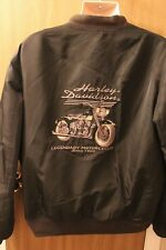 Mens Harley Davidson Motorcycle Nylon Bomber Jacket Size XL Pre-owned