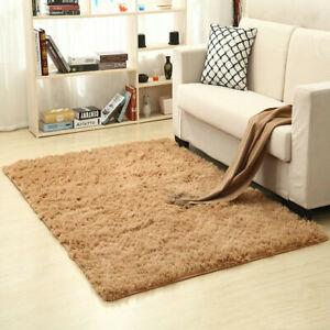 Large Fluffy Anti-Skid Rugs Shaggy Area Rug Dining Room Home Bedroom Floor Mat