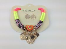 Necklace & Earring Set Makarlon Colorful Fashion Jewery