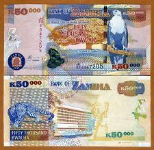 Zambia, 50,000 (50000) Kwacha, 2012, Pick 48h, OVD, UNC > Leopard
