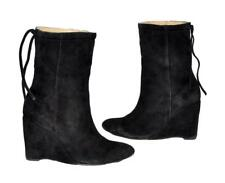 Andrea & Joen Black Genuine Suede (Leather) Low Calf Women's Boots Size 36