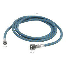 """US STOCK 6'FT Braided Airbrush Air Hose 1/8""""-1/4"""" Fitting Ends Coupling Adapter"""
