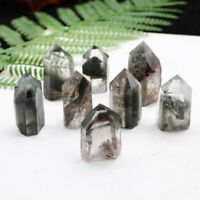 Natural Green Ghost Crystal Obelisk Chlorite Quartz Green Phantom Point Healing