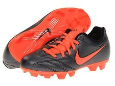 Nike Youth UK 4.5 T90 Shoot IV Fg terreno firme Negro/Rojo Carmesí Botas de fútbol