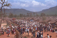 590058 Cambodian Refugees Line Up For Food Rations Thailand A4 Photo Print
