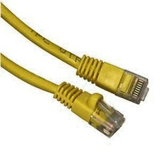 10 LOT 1FT Yellow Cat6 Network LAN Copper Cable Ethernet patch Rj45 pack 1 FT