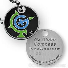 Gx (Geocaching Symbol) Micro Travel Tag (Travel Bug Geocoin) For Geocaching