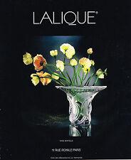 PUBLICITE  ADVERTISING  1994   CRISTAL LALIQUE  vase  SERTELLA