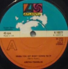 """ARETHA FRANKLIN - When You Get Right Down To It ~ 7"""" Single"""