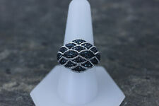 Stunning JS Blue Diamond 2ct Sterling Silver Ring Size 9.25- 14153