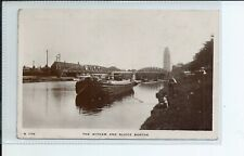 Real photo postcard of the Witham and sluice in Boston Lincolnshire in gc