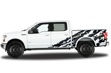 Vinyl Decal Graphics Wrap Kit for 15-17 Ford F-150 Shred BLACK SuperCrew 5.5 Bed