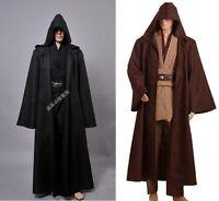 Star Wars Jedi Knight Cloak Adult Robe Cosplay Costume Hooded Cape Halloween
