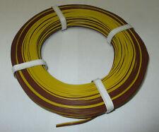 [1m = Twin Braid Wire 50m Yellow / Braun New