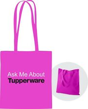 Ask Me About Tupperware Tote Bag Pink with handles *Free Shipping* Great Gift
