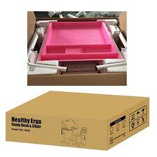 B203 Pink  Kids Study Desk & Chair Set w/Paper Roll Holder - Height Adjustabl