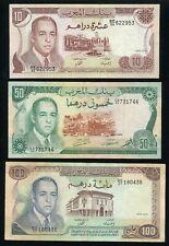 Morocco Banknote P59a 100 Dirhams 1970//1390 VF