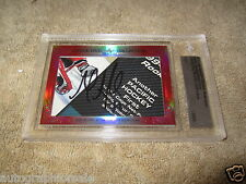 Martin Brodeur & Grant Fuhr 2015 Leaf Masterpiece Cut Signature signed card 1/1