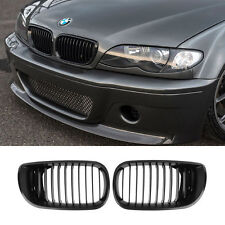 Black kidney grilles for BMW E46 3 series 02-05 facelift 4 Door Saloon Touring